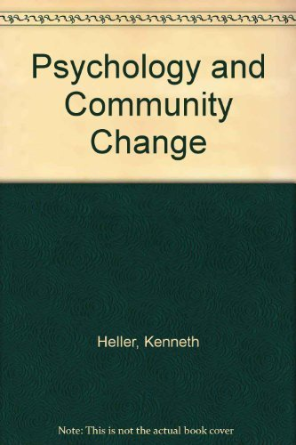 9780534105617: Psychology and Community Change: Challenges of the Future, Revised