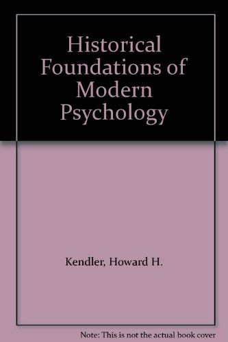 Historical Foundations of Modern Psychology
