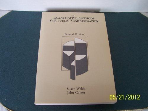 9780534108885: Quantitative Methods for Public Administration: Techniques and Applications