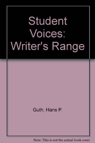 9780534117245: Student Voices: The Writer's Range