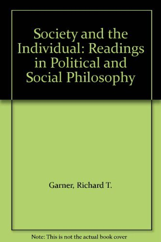 9780534122102: Society and the Individual: Readings in Political and Social Philosophy