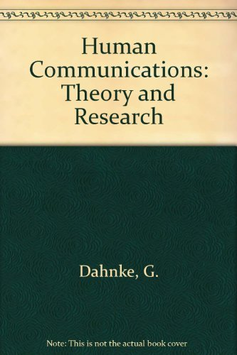 9780534123963: Human Communication: Theory and Research