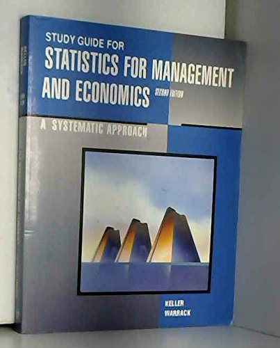 9780534126797: Statistics for Management and Economics: A Systematic Approach: Systems Approach (Students' Guide)