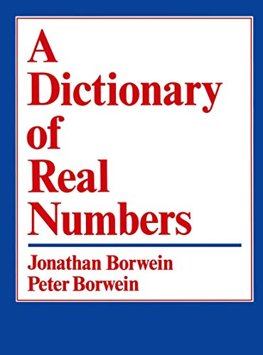 9780534128401: A Dictionary of Real Numbers