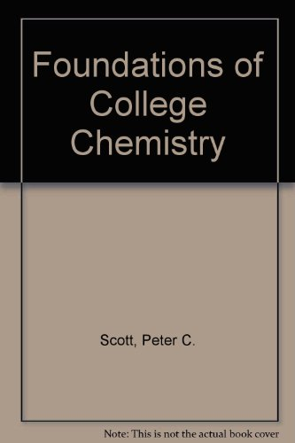 9780534129675: Foundations of College Chemistry