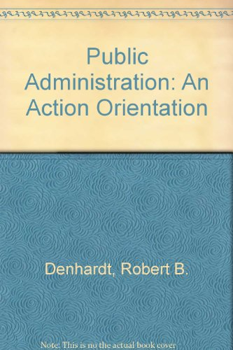 9780534131821: PUBLIC ADMINISTRATION (Brooks/Cole series in public administration)