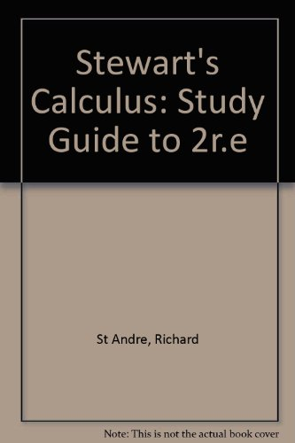 Study guide for stewart's single variable calculus: early.