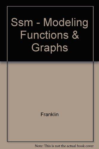 Ssm - Modeling, Functions & Graphs