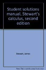 Student solutions manual, Stewart's calculus, second edition: James Stewart