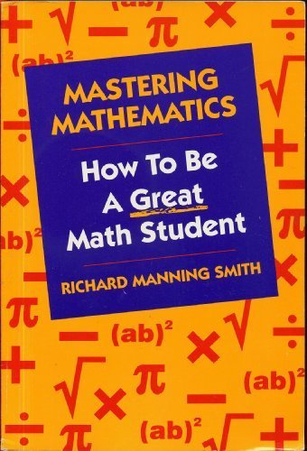 9780534146283: Mastering Mathematics: How to be a Great Math Student