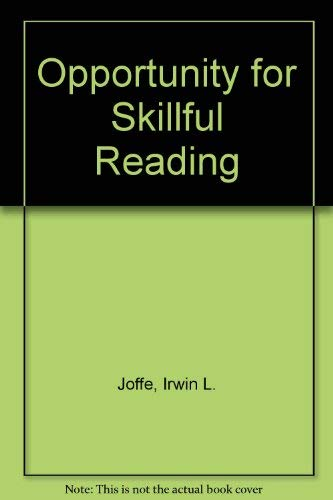 9780534146641: Opportunity for Skillful Reading