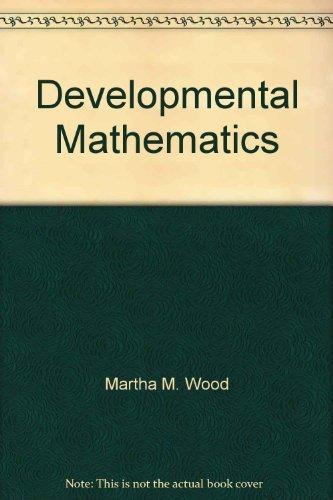 9780534147839: Developmental Mathematics