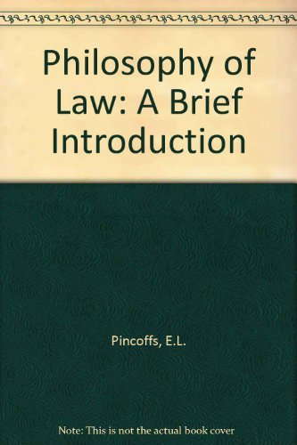 9780534148027: Philosophy of Law: A Brief Introduction