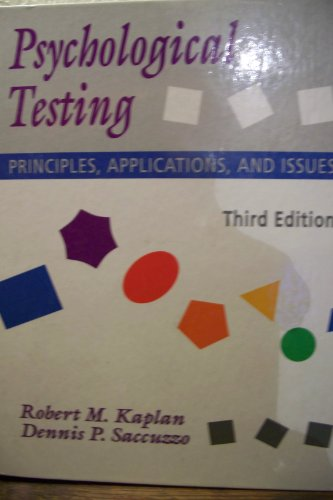 9780534162306: Psychological Testing: Principles, Applications, and Issues