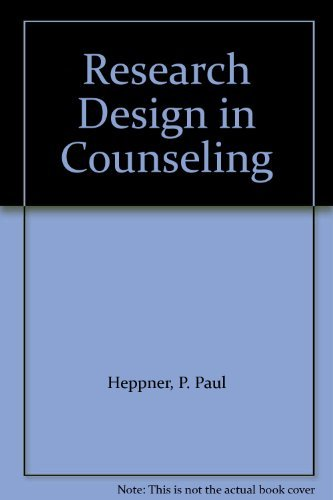 9780534162849: Research Design in Counseling