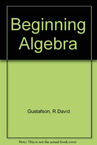 9780534163921: Beginning Algebra