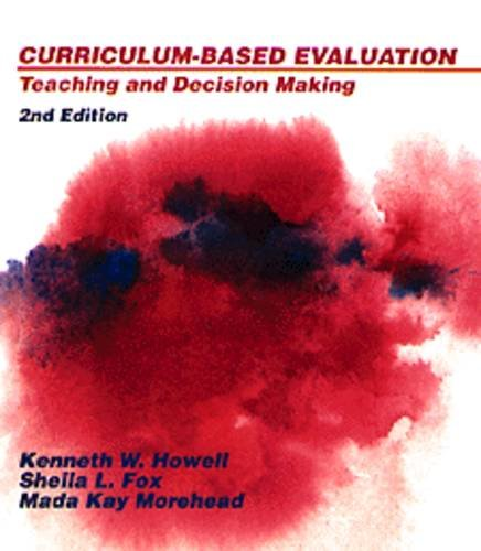 9780534164287: Curriculum-Based Evaluation: Teaching and Decision-Making, 2nd Edition