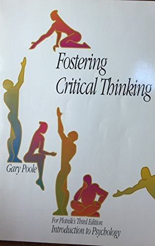9780534164577: Fostering critical thinking
