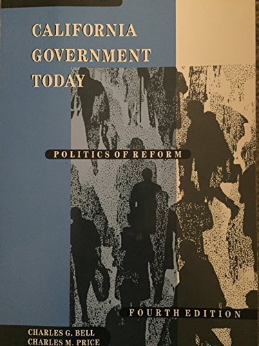 9780534164584: CALIFORNIA GOVERNMENT TODAY