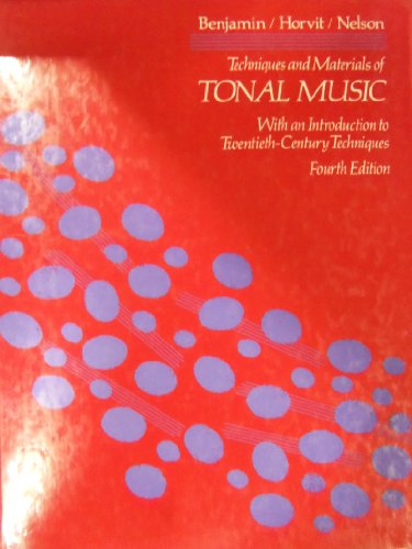 9780534166809: Techniques and Materials of Tonal Music