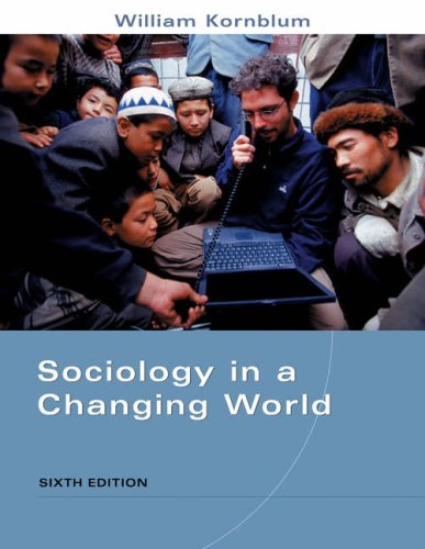 9780534168049: Sociology in a Changing World