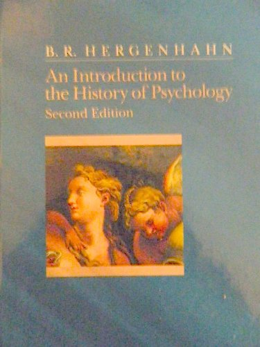 9780534168124: An Introduction to the History of Psychology