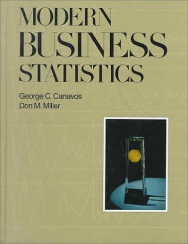 Modern Business Statistics: Don M. Miller;
