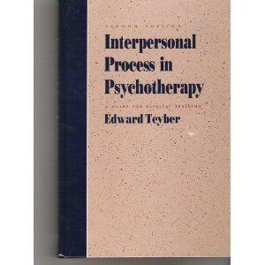 9780534169206: Interpersonal Process in Psychotherapy: A Guide for Clinical Training