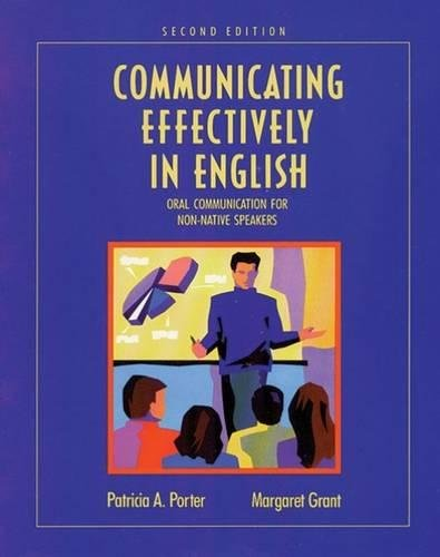 9780534172688: Communicating Effectively in English: Oral Communication for Non-Native Speakers
