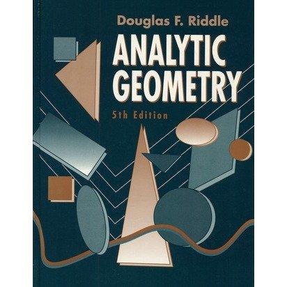 9780534172749: Analytic Geometry