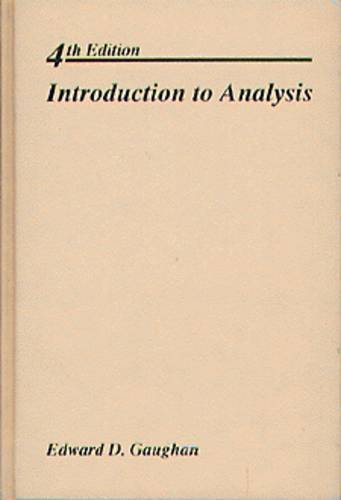 9780534173586: Introduction to Analysis