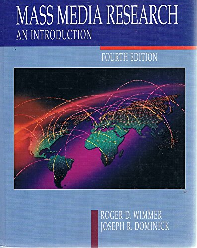 9780534174729: Mass Media Research: An Introduction (Wadsworth Series in Mass Communication)