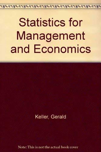 Statistics for Management and Economics: Keller, Gerald, Warrack,