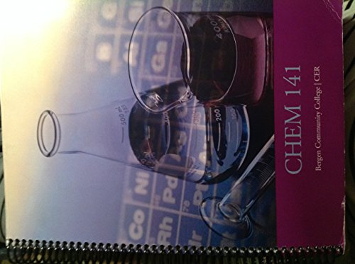 9780534190415: Chem 141 - Lab Workbook Bergen Community College