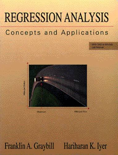 9780534198695: Regression Analysis: Concepts and Applications