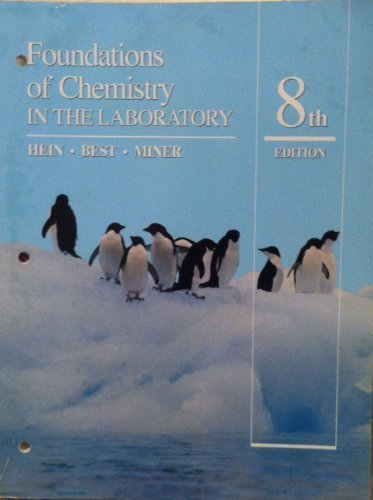 9780534200169: Foundations of Chemistry in the Laboratory