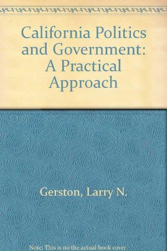 California politics and government gerston