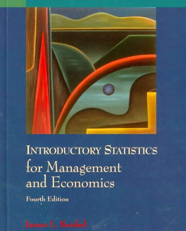 Introductory statistics for management and economics by kenkel introductory statistics for management and economics kenkel james l sciox Choice Image