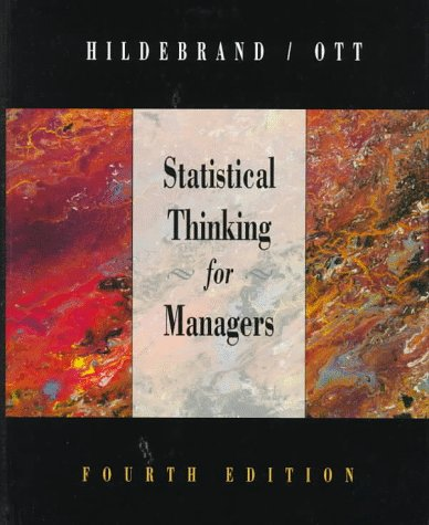 9780534204068: Statistical Thinking for Managers (Business Statistical)