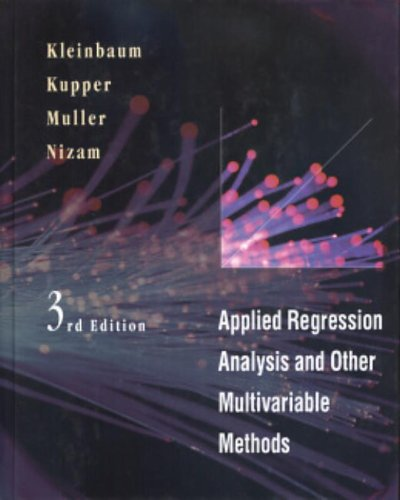 9780534209100: Applied Regression Analysis and Other Multivariable Methods