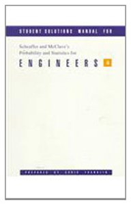 9780534209650: Student Solutions Manual for Scheaffer/McClave's Probability and Statistics for Engineers