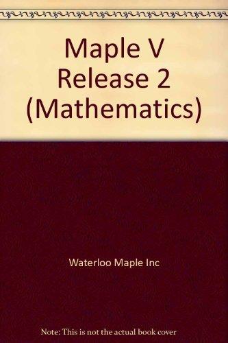9780534212223: Maple V Rel 2 386/486 Based IBM (Mathematics)