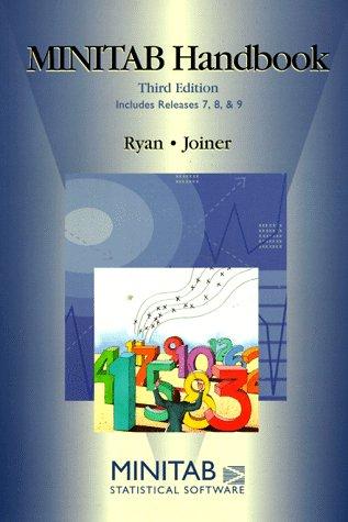 9780534212407: MINITAB Handbook (Statistics)