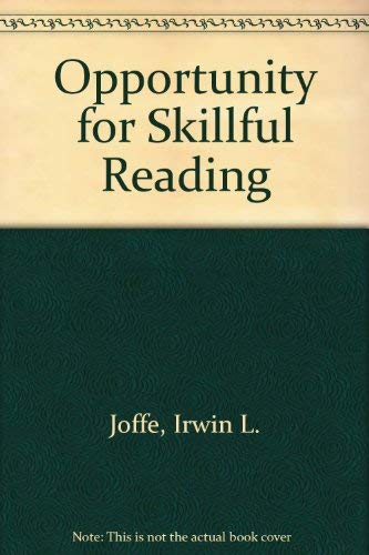 9780534213961: Opportunity for Skillful Reading