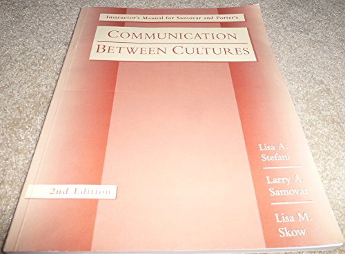 9780534215835: Communication Between Cultures