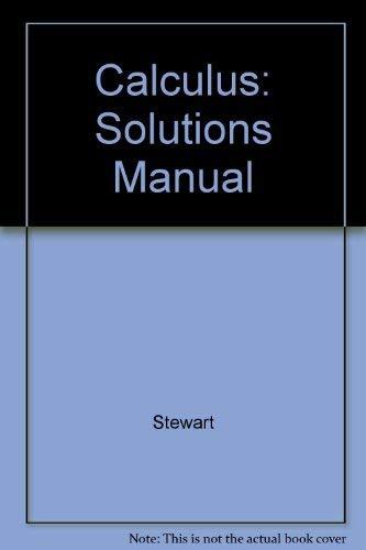 9780534218003: Calculus: Solutions Manual