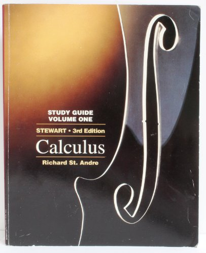 9780534218041: Study Guide for Single Variable Calculus: 1 (Mathematics, No 1)