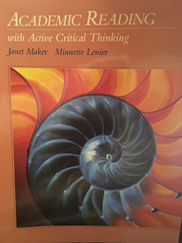 9780534220204: Academic Reading With Active Critical Thinking