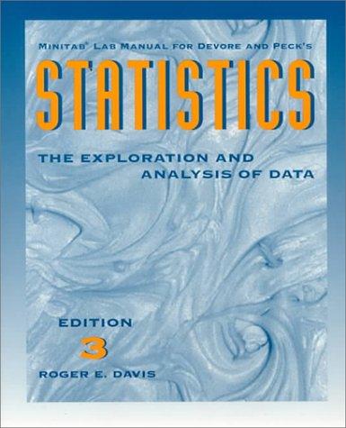 9780534228996: Statistics: Exploration Analysis (Statistics Ser.))