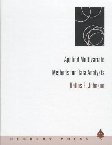 9780534237967: Applied Multivariate Methods for Data Analysts